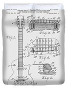 Les Paul  Guitar Patent From 1955 Duvet Cover