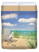 Life Is A Beach Duvet Cover