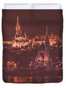 Lights Of Budapest Duvet Cover