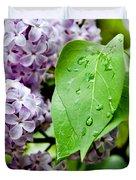 Lilac Drops Duvet Cover