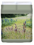 Lilac Flower In Green Canvas Spring Has Arrived 2 Duvet Cover