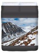Lincoln Peak Winter Landscape Duvet Cover