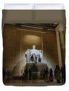 Lincoln Statue Duvet Cover