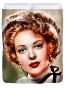 Linda Darnell, Vintage Hollywood Actress Duvet Cover