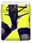 Lingerie Tease Pop Art Duvet Cover