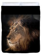 Lion King Of The Jungle Duvet Cover by James Sage
