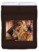 Lion Mates Duvet Cover