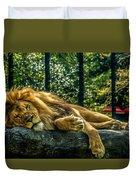 Lion Relaxing Duvet Cover