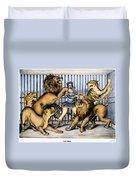 Lion Tamer, 1873 Duvet Cover