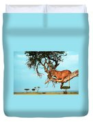 Lioness In Africa Duvet Cover