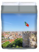 Lisbon Castle Flag Duvet Cover