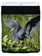Little Blue Heron Duvet Cover