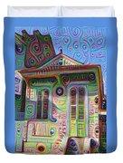 Little House On Bourbon Street Duvet Cover