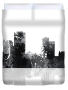 Little Rock Arkansas Skyline Duvet Cover