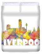 Liverpool England Skyline Duvet Cover