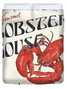 Lobster House Duvet Cover by Debbie DeWitt