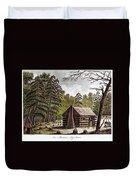 Log Cabin, 1826 Duvet Cover