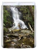 Log Hollow Falls North Carolina Duvet Cover