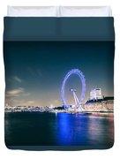 London Cityscape On River Thames Duvet Cover