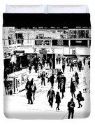 London Commuter Art Duvet Cover