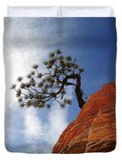 Lone Bonsai Tree In Zion Duvet Cover