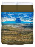 Lone Rock In Lake Powell Utah Duvet Cover