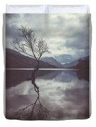 Lone Tree At Llyn Padarn Duvet Cover