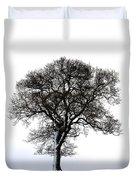 Lone Tree In Field Duvet Cover by John Short