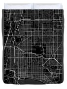 Long Beach California Usa Dark Map Duvet Cover