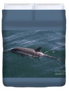Long-beaked Common Dolphins In Monterey Bay 2015 Duvet Cover