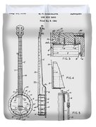 Long Neck Banjo Patent From 1964 Duvet Cover