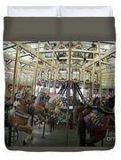 Looff Carousel Santa Cruz Boardwalk Duvet Cover