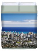 Lookout View Of Honolulu Duvet Cover