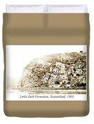 Lorelei Rock Formation, Switzerland, 1903 Duvet Cover