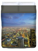 Los Angeles Downtown Nightscape Duvet Cover