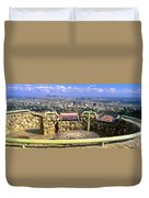 Los Angeles Skyline From Mulholland Duvet Cover