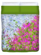 Pink And Purple Phlox Duvet Cover
