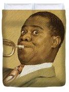 Louis Armstrong, Music Legend Duvet Cover