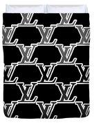 Louis Vuitton Black Duvet Cover