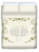 Love Birds Ketubah- Reformed Humanistic Version  Duvet Cover