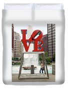 Love Sculpture Duvet Cover