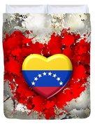 Love Venezuela Duvet Cover