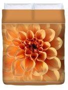 Lovely In Peaches And Cream - Dahlia Duvet Cover