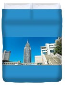 Low Angle View Of Buildings, Mobile Duvet Cover