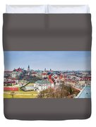 Lublin Old Town Panorama Poland Duvet Cover