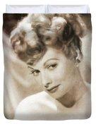 Lucille Ball By Mary Bassett Duvet Cover