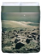 Lunar Rover At Rim Of Camelot Crater Duvet Cover