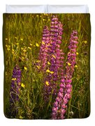Lupins And Buttercups Duvet Cover