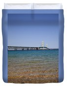 Mackinac Bridge Duvet Cover