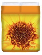 Macro Shot Of A Yellow Flower. Duvet Cover
